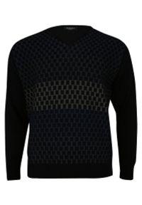 Niebieski sweter Elkjaer z dekoltem w serek, na zimę