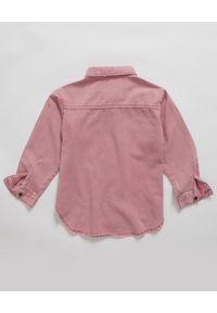ONETEASPOON KIDS - Koszula z denimu różowa 5-14 lat. Kolor: różowy, wielokolorowy, fioletowy. Materiał: denim. Długość rękawa: długi rękaw. Długość: długie. Sezon: lato. Styl: elegancki