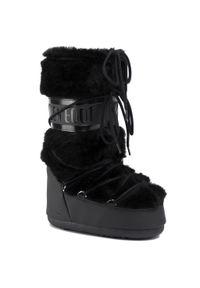 Czarne śniegowce Moon Boot z cholewką