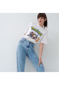 House - Krótka koszulka z nadrukiem Pokémon - Biały. Kolor: biały. Długość: krótkie. Wzór: nadruk