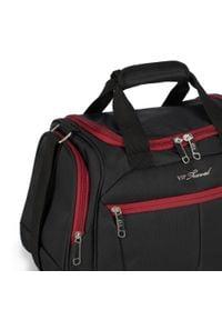 Wittchen - Średnia miękka torba podróżna dwukolorowa. Kolor: czarny, czerwony, wielokolorowy. Materiał: poliester
