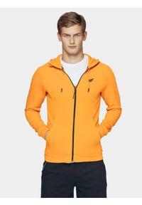 Pomarańczowa bluza rozpinana 4f raglanowy rękaw, na co dzień, casualowa