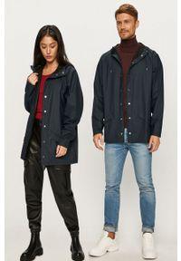 Rains - Kurtka przeciwdeszczowa 1208 Jacket. Kolor: niebieski. Materiał: tkanina. Wzór: gładki