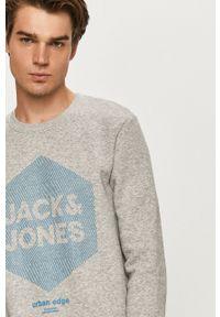 Jack & Jones - Bluza. Okazja: na co dzień. Kolor: szary. Wzór: nadruk. Styl: casual