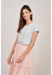 Marie Zélie - Spódnica Ruth różowa wiskoza żakardowa. Kolor: różowy. Materiał: wiskoza, żakard. Długość: długie. Sezon: lato