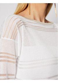 Biały sweter klasyczny Luisa Spagnoli