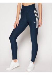Niebieskie legginsy Adidas