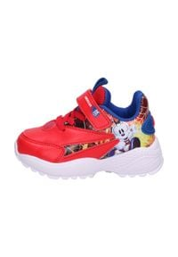 American Club - Sportowe buty dziecięce AMERICAN BD07/21 RD. Kolor: czerwony. Materiał: skóra