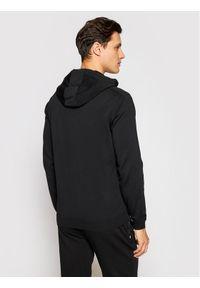 Karl Lagerfeld - KARL LAGERFELD Bluza Knit Hoody 655034 511304 Czarny Regular Fit. Typ kołnierza: dekolt w karo. Kolor: czarny