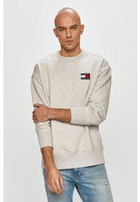 Tommy Jeans - Bluza bawełniana. Kolor: szary. Materiał: bawełna