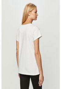 Biała bluzka Prosto. casualowa, na co dzień, z nadrukiem