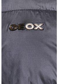 Niebieska kurtka Geox na co dzień, z kapturem, casualowa
