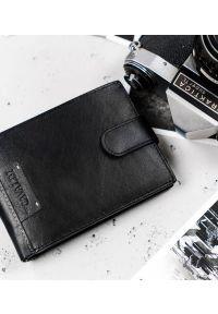4U CAVALDI - Portfel męski czarny Cavaldi N992L-NAD-BOX-1496 B. Kolor: czarny. Materiał: skóra