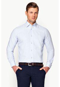 Niebieska koszula Lancerto w kolorowe wzory, elegancka