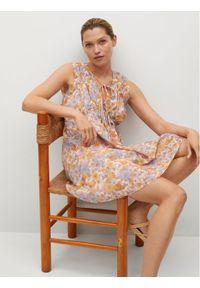mango - Mango Sukienka letnia Mina 17050172 Kolorowy Regular Fit. Wzór: kolorowy. Sezon: lato