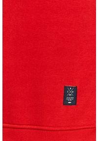 Czerwona bluza nierozpinana Cross Jeans z kapturem, casualowa, na co dzień