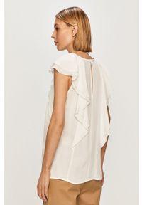 Biała bluzka Silvian Heach gładkie, z krótkim rękawem, na co dzień