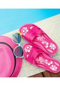LANO - Klapki dziecięce basenowe Lano KL-3-3060-M7 Różowe. Okazja: na plażę. Kolor: różowy. Materiał: guma