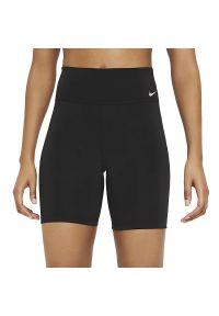 Nike One Mid-Rise Bike Shorts > DD0243-010. Materiał: poliester, materiał. Technologia: Dri-Fit (Nike). Sport: kolarstwo, fitness