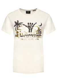 Superdry T-Shirt Vl Itago W1010510A Beżowy Regular Fit. Kolor: beżowy #2