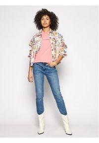 Wrangler Kurtka jeansowa Western Utility W427E429A Kolorowy Regular Fit. Materiał: jeans. Wzór: kolorowy
