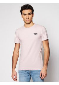 Superdry T-Shirt Ol Vintage Emb Crew M1010024A Różowy Regular Fit. Kolor: różowy. Styl: vintage