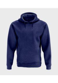 MegaKoszulki - Męska bluza z kapturem melanżowa (bez nadruku, gładka) - niebieska. Typ kołnierza: kaptur. Kolor: niebieski. Wzór: gładki, melanż