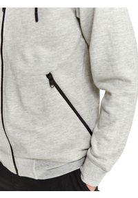 TOP SECRET - Bluza rozpinana ze strukturalnej dzianiny. Kolor: szary. Materiał: dzianina. Długość rękawa: długi rękaw. Długość: długie. Sezon: jesień