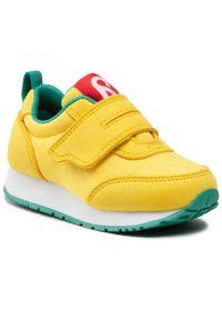 Reima - Sneakersy REIMA - Evaste 569428 2370. Okazja: na co dzień. Zapięcie: rzepy. Kolor: żółty. Materiał: materiał. Szerokość cholewki: normalna. Styl: casual