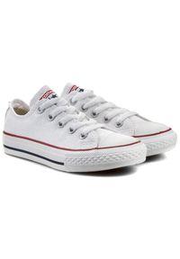 Białe półbuty Converse casualowe, z cholewką, na co dzień