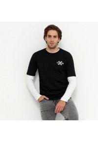 House - T-shirt z nadrukiem na plecach Joker - Czarny. Kolor: czarny. Wzór: nadruk