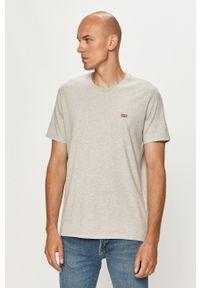 Levi's® - Levi's - T-shirt. Okazja: na co dzień, na spotkanie biznesowe. Kolor: szary. Wzór: aplikacja. Styl: biznesowy, casual