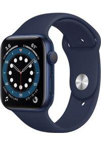 APPLE - Smartwatch Apple Watch Series 6 GPS + Cellular 40mm Blue Alu Navy Sport Granatowy (M06Q3WB/A). Rodzaj zegarka: smartwatch. Kolor: niebieski. Styl: sportowy