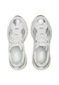 Karl Lagerfeld - Sneakersy KARL LAGERFELD - KL62420 White Lthr W/Silver. Kolor: biały. Materiał: materiał. Szerokość cholewki: normalna. Obcas: na płaskiej podeszwie