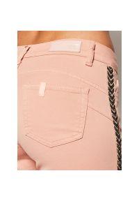 Różowe jeansy slim Liu Jo