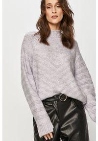 Fioletowy sweter Answear Lab wakacyjny, na co dzień, z długim rękawem, długi