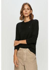Czarny sweter Tommy Jeans z długim rękawem, na co dzień, długi