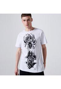 Cropp - Koszulka z motywem kosmosu - Biały. Kolor: biały