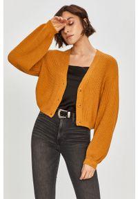 Żółty sweter rozpinany Answear Lab długi, na co dzień, wakacyjny #6