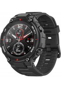 Czarny zegarek Xiaomi rockowy, smartwatch
