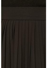 Czarna spódnica Vila na co dzień, casualowa, z podwyższonym stanem, gładkie