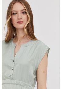 Answear Lab - Sukienka. Okazja: na co dzień. Kolor: turkusowy. Materiał: tkanina. Wzór: gładki. Typ sukienki: proste. Styl: wakacyjny