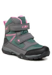 Śniegowce CMP - Kids Pyry Snow Boot Wp 38Q4514J Graffite/Acqua 14UF. Okazja: na spacer. Kolor: zielony, wielokolorowy, szary. Materiał: skóra, skóra ekologiczna, materiał