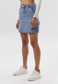 Born2be - Niebieska Spódnica Baileet. Kolor: niebieski. Materiał: jeans