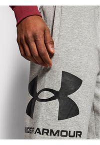 Under Armour Szorty sportowe Rival Fleece Big Logo 1357118 Szary Loose Fit. Kolor: szary