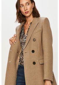 Beżowy płaszcz Morgan bez kaptura, klasyczny