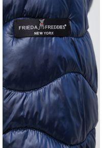 Frieda & Freddies - Kurtka. Okazja: na co dzień. Typ kołnierza: kaptur. Kolor: niebieski. Materiał: materiał. Wzór: gładki. Styl: casual