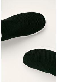 Czarne buty sportowe Answear Lab z cholewką, z okrągłym noskiem, na średnim obcasie