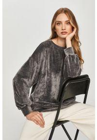 Szara bluza Answear Lab z długim rękawem, bez kaptura