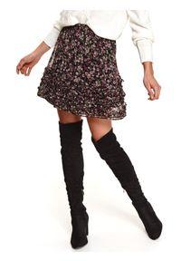 Czarna spódnica TOP SECRET w kwiaty